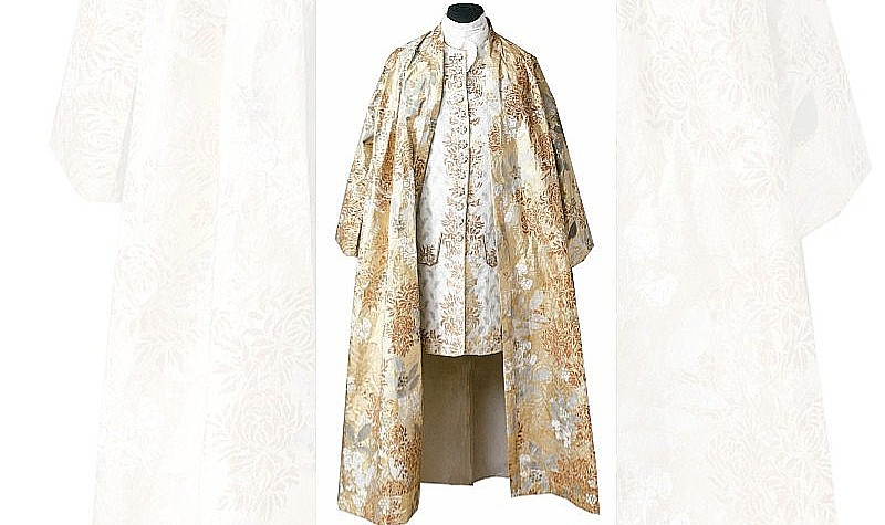 Banyan and Waistcoat, 1998 Inspired by a banyan and waistcoat ca. 1730 worn by Peter the Great of Russia