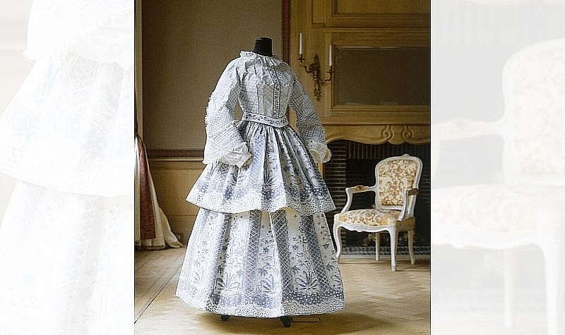 Day Dress, 1994 Based on an English Day dress 1855 in the collection of the Kyoto Costume Institute