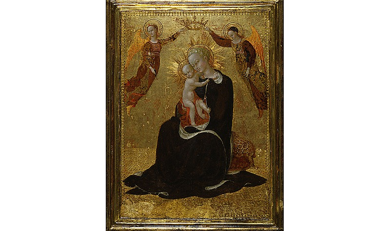 Stefano di Giovanni called Sassetta (Sienese, c. 1400-1450), The Virgin of Humility Crowned by Two Angels, c. 1438. Tempera on panels, Frick Art & Historical Center, Pittsburgh, 1973.29.