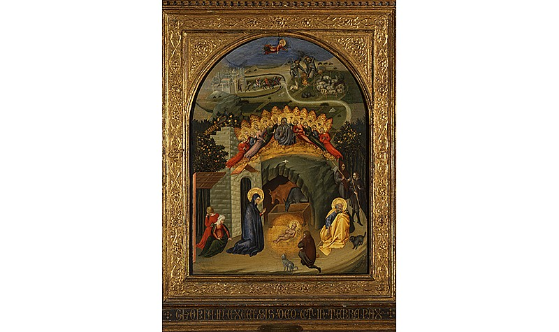 Giovanni di Paolo (Sienese, 1398-1483), Nativity, c. 1450. Tempera on panel, Frick Art & Historical Center, Pittsburgh, 1973.30.