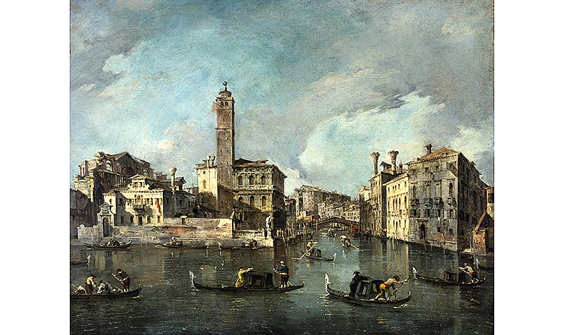 Francesco Guardi (Italian, 1712-1793), View on the Grand Canal at San Geremia, Venice, 1760-1765. Oil on canvas, Frick Art & Historical Center, Pittsburgh, 1984.26.