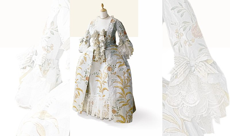 Madame de Pompadour Court Dress, 2001, Inspired by a ca. 1755 portrait by Maurice-Quentin de la Tour (French, 1704-1788) in the collection of the Muse du Louvre, Paris, and shoes in the collection of The Costume Institute