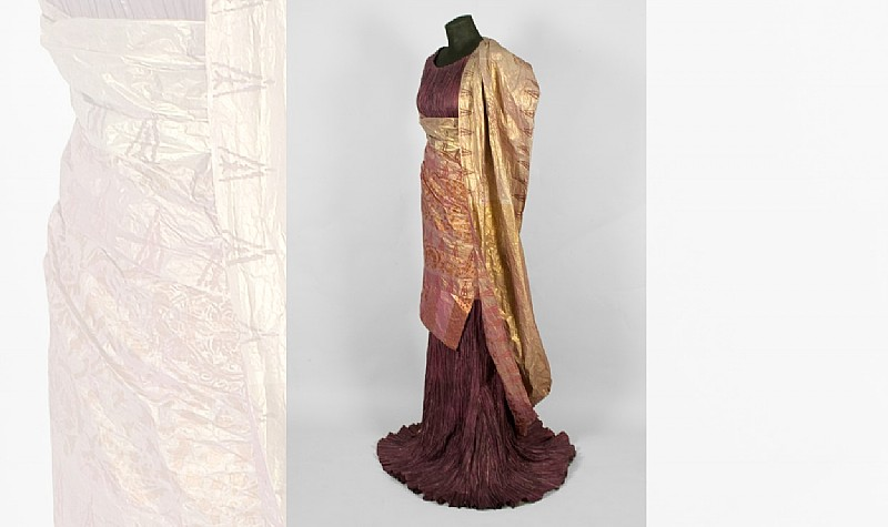Delphos Dress and Knossos Shawl, 2008, Based on a photograph of a model take by Fortuny in 1909