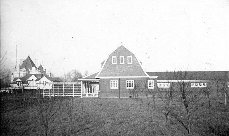 A view of the Playhouse from the orchard