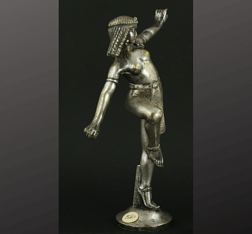 $500 - Mascot #350, Egyptian Dancer, c. 1920s. Ornament designed by Dominique Alonzo. CCCA Museum, Hickory Corners, MI. Collection of the Classic Car Club of America.