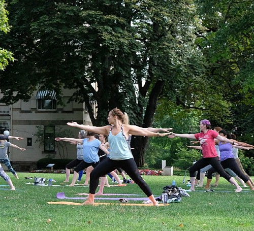 <em>Yoga on the Lawn</em>